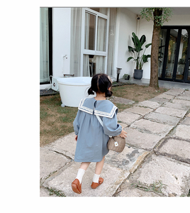 Image 5 - Kids Dresses for Girl Spring Autumn Children Clothes Girls Pure All Cotton Princess Dress Preppy Style Skirt Toddler Dress