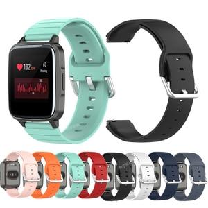 Correa de reloj para Xiaomi Haylou Solar LS02, pulsera deportiva de silicona de repuesto para Xiaomi Haylou Sola LS01, accesorios de banda