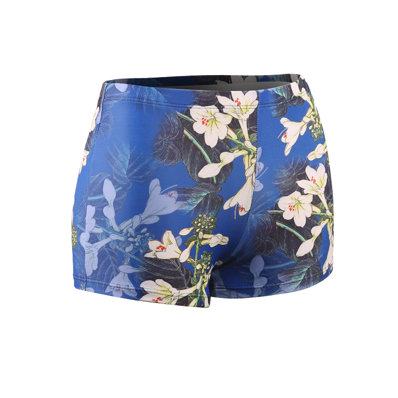 2018 New Style WOMEN'S Swimming Trunks Simple Slimming Anti-Exposure Floral Fashion Korean-style Swimwear