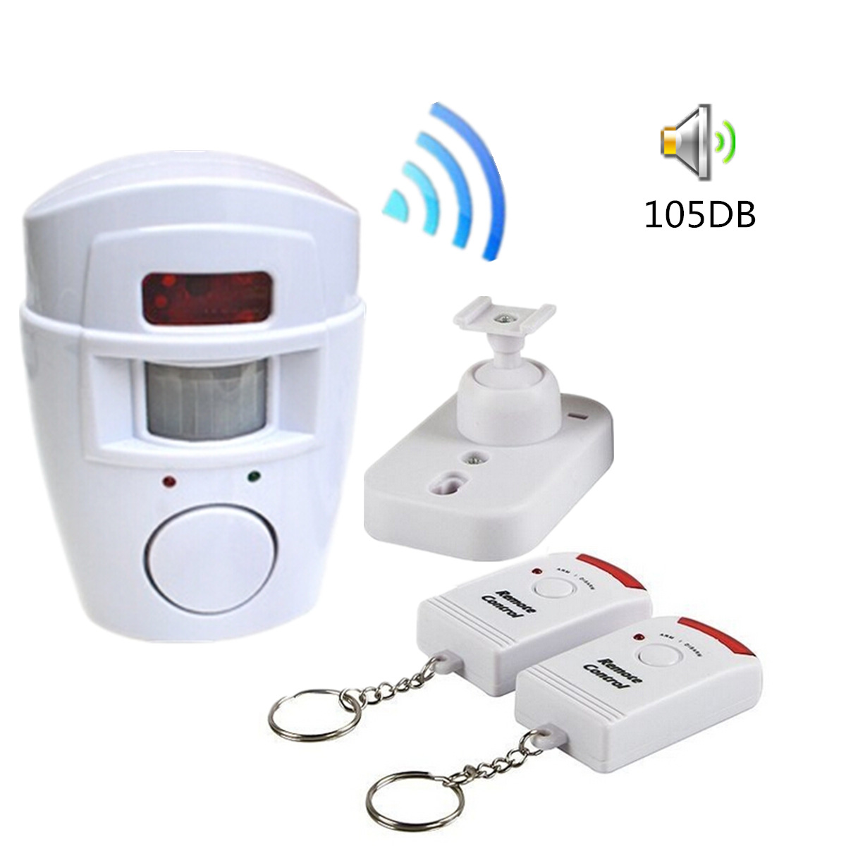Home Security Alert Infrared Sensor Anti-theft Motion Detector Alarm Monitor Wireless Alarm system 2 remote control