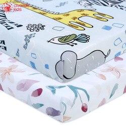 Bebê recém-nascido cabido berço sheets130 * 70 cm impressão dos desenhos animados folha de cama do bebê colchão capas para unisex bebê meninos meninas
