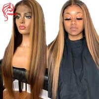 Hesperis13x6 Peluca de pelo humano Frontal de encaje pelucas marrones y rubias destacadas pelucas brasileñas Remy 360 peluca Frontal de encaje pelucas frontales de encaje Rubio