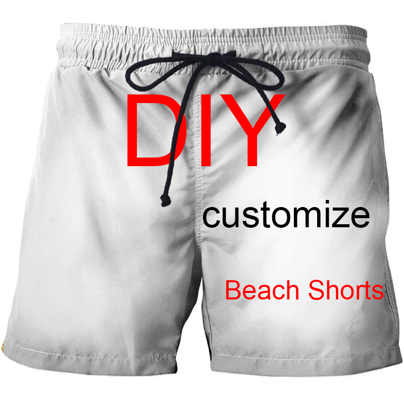 3D Printed Customized Beach Shorts Men Casual Board Shorts Plage Quick Dry Shorts Swimwear Streetwear DropShip ZOOTOP BEAR New