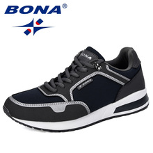 BONA 2019 New Designers Breathable Men Casual Shoes