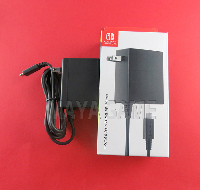 ต้นฉบับใหม่สำหรับNS Switchอะแดปเตอร์AC US EU Uk Plug Wall Chargerแหล่งจ่ายไฟสำหรับNintend Switchเกมคอนโซล