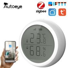 Tuya Smart Home Zigbee Temperatuur En Vochtigheid Sensor Indoor Hygrometer Thermometer Met Led Scherm Werkt Met Alexa Google