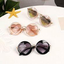 Детские очки для мальчиков и девочек, ретро сердце, пляжные игрушки, уличные детские солнцезащитные очки, UV400 M68A