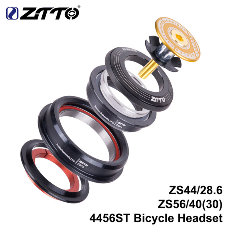 Ztto mountain bike fone de ouvido interno 44mm 56mm tubo cônico garfo reta zs44 zs56 bicicleta sem rosca fone de ouvido para mtb 4456st