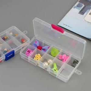 10 Grids Transparent Plastic PP Storage Box Adjustable And Detachable Jewelry Organizer Case For Beads Rings Earrings Tools