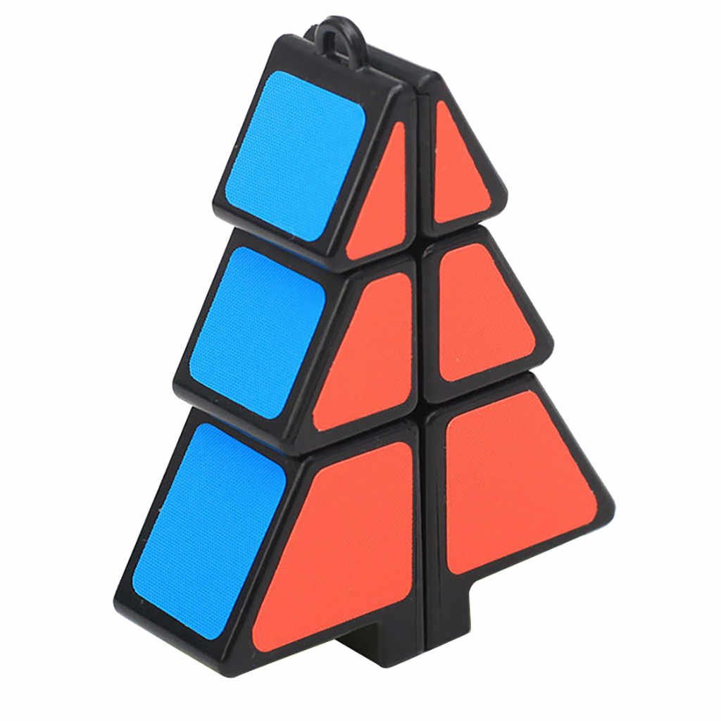 christmas decorations for home Magic Cube 1X2X3 Christmas Tree Cube Puzzle Ultra-Smooth Magic Puzzle Xmas Gifts D30828