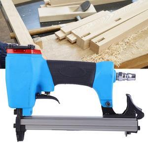 Image 2 - U type Pneumatic Air Stapler 13mm Nailer Fine Stapler Tool Furniture Blue Nailer Woodworking Pneumatic Air Power Gun Riveter