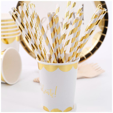 10pcs/set Gold Foil Celebrate Theme Disposable Tableware Wedding Party Adult Birthday Party Decorations Supplies celebrate party gold foil disposable tableware set paper plates cups napkins straws adult birthday party decor wedding party sup