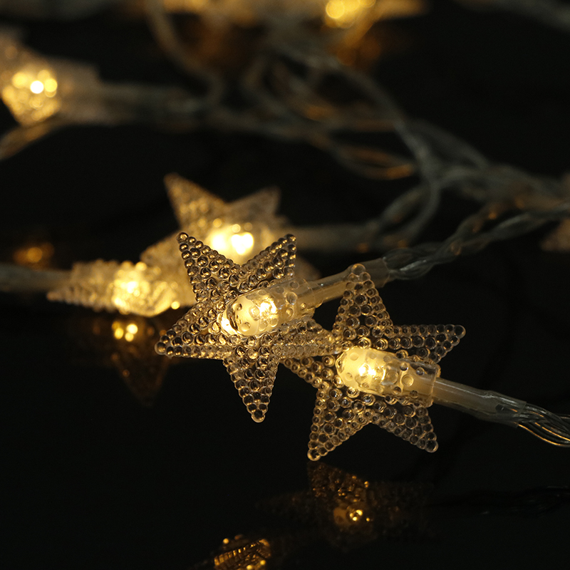 10/20/40 LED Star Light String Twinkle Garlands Battery Powered Christmas Lamp Holiday Party Wedding Decorative Fairy Lights