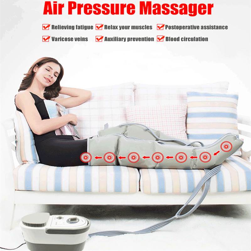 Air Wave Pressure Massager Continuous Compression Circulator Leg Arm Waist Leg Massageing Machine Muscles Relaxed Recovery Devic-in Massage & Relaxation from Beauty & Health