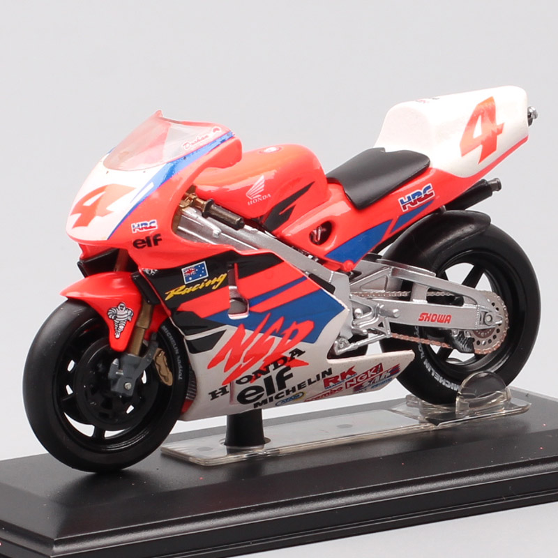 Kids 1/22 Scale Italeri Honda NSR 500 World Champion 1994 Rider No#4 M.Dooham Motorcycle Diecast Vehicle Model Bike Toy Replicas