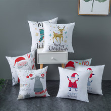 Christmas decor small fresh pillow case home decor soft comfort pillow cover 45x45cm holiday gift cushion cover tpr226(China)