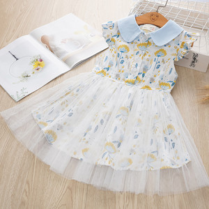 Image 3 - فستان بناتي موضة 2020 برقبة على شكل زهرة فستان للأطفال
