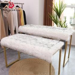 Bubble Kiss-tapis à poils longs, en Imitation laine blanc, pour vitrine, chapeaux, magasin de vêtements, chapeaux