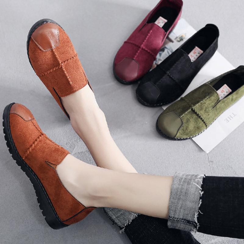 Plus Size 36-43 Women Flats shoes 2020 Loafers Candy Color Slip on Flat Shoes Comfortable Ladies shoes