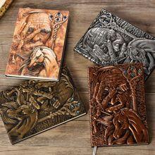 Creatieve De Magic Reliëf A5 Lederen Notebook Journal Notepad Reisdagboek Planner Book School Kantoor