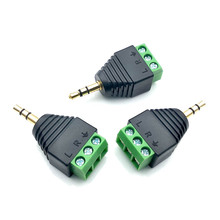 3pcs 3.5mm 1/8in 3-Pole Male Audio Jack Plug Stereo Headphone DIY Connectors for Tablets MP4 Mobile Phone Headsets High Quality