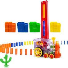 Zhenwei домино поезд домино набор блоков для строительства и укладки игрушек блоки для детей домино укладка поезда