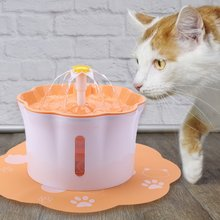 2.6L Pet Automatic Cat Fountain Pet Drinking Water Dispenser Electric LED Dog Drinking Fountain Cat Feeder Filter USB Powered