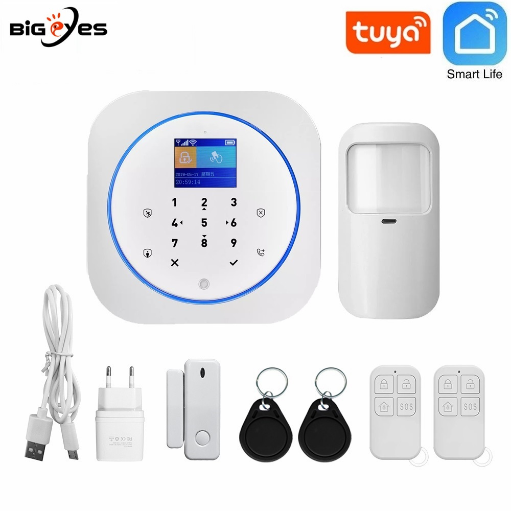TUYA WiFi home security alarm system/tuya wifi alarm system support smart automation function burglar alarm system with Google