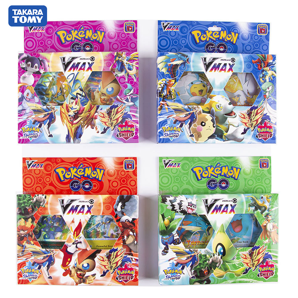 2020 New Collection Of Pokemon Card Sword And Shield Game Cards In 2020, A Total Of 54 Cards Including Random VMAX Cards