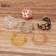 BoYuTe (40 Pieces/Lot) 18*15MM Metal Brass Filigree Ring Base Adjustable Ring Setting Diy Hand Made Jewelry Accessories