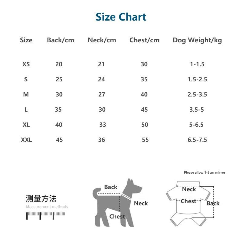 size chart-xs-xxl
