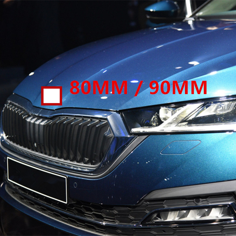 ,Rear None//Brand Car Styling Middle Front Grille Rear Trunk Emblem Replacement Logo Sticker for S-koda Octavia Superb Front And Rear 80Mm, 90Mm