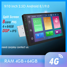 1 DIN Android 9.0 Octa Core PX5 Radio Stereo GPS NAVI Âm Thanh Video DSP 4G Wifi BT HDMI Carplay Tivi OBD SWC DAB + 4G + 64G(China)