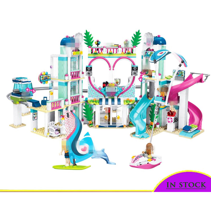 Compatible With Lepining Friends Heartlake City Resort Top Hotel Building Blocks Kit For Kids Fun Toys Set For Girls Christmas