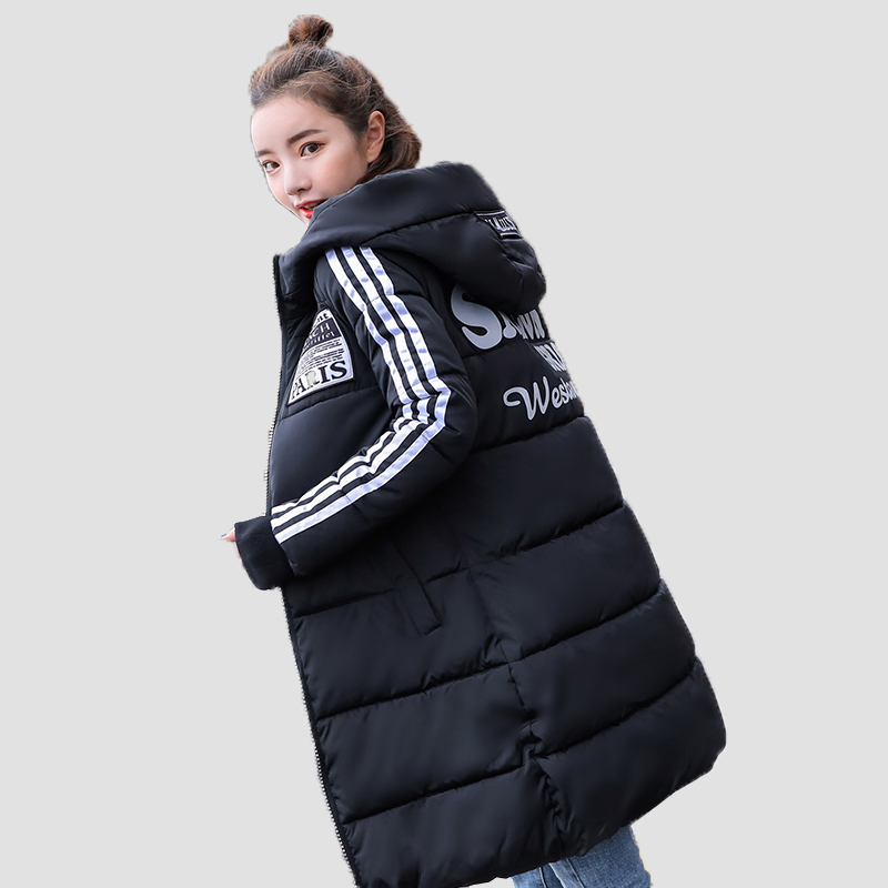 Parka Women New Winter Down Jacket Women Coat Long Hooded Outwear Female Parka Thick Cotton Padded Female Basic Coats Overalls