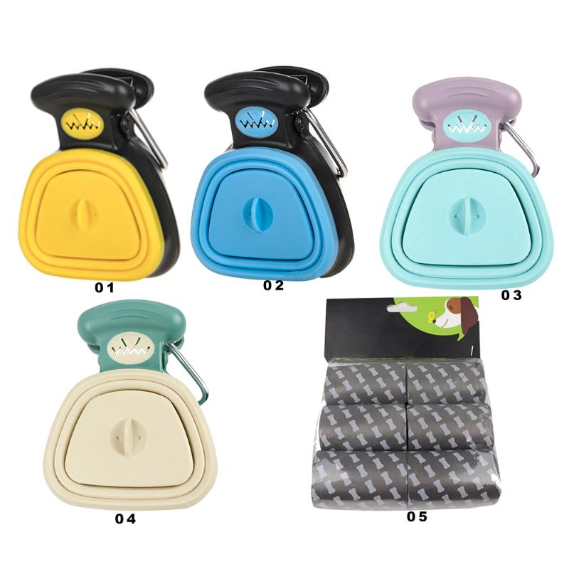 Dog Pet Travel Foldable Pooper Scooper With 1 Roll Bags Poop Scoop Clean Pick Up Excreta Cleaner Outdoor Pet Supplies