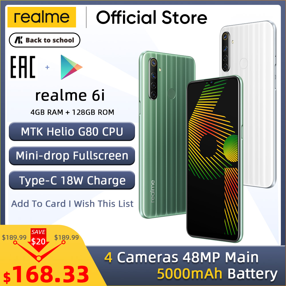 Realme 128GB 4gbb LTE/WCDMA/GSM Nfc Supercharge Bluetooth 5.0 Octa Core Fingerprint Recognition/face Recognition