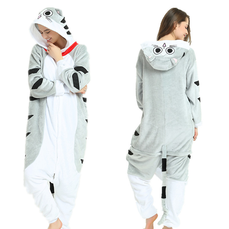 Adult Winter Animal Unremovable Hat Pyjamas Home Wear Kigurumi Unicorn Pajamas Sets For Women Pijama Unicornio Nightie Sleepwear