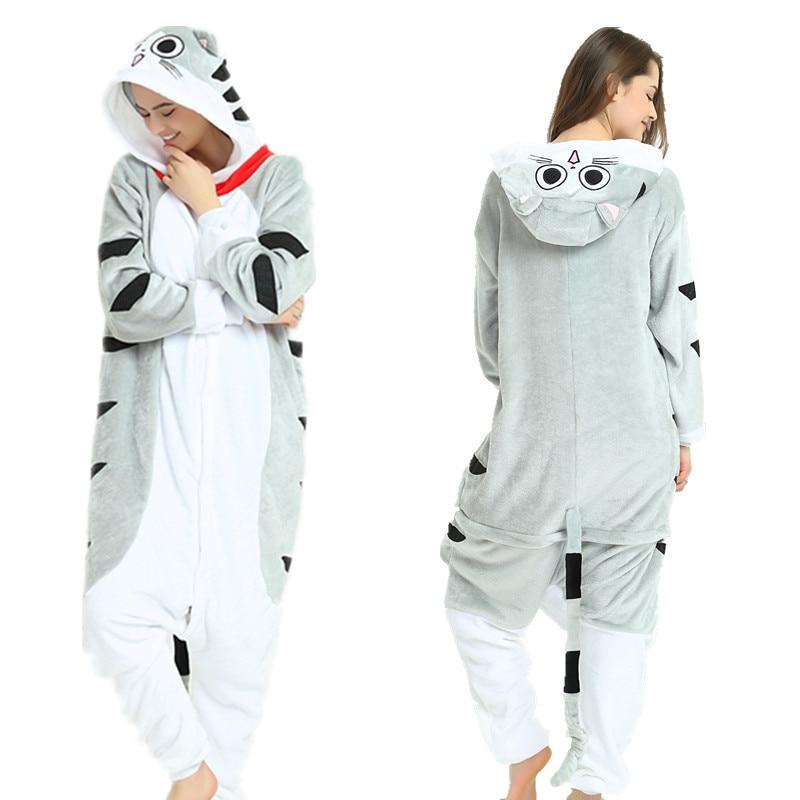 Adult Winter Animal Unremovable Hat Pyjamas Home Wear Kigurumi Unicorn Pajamas Sets For Women Pijama Unicornio Nightie Sleepwear