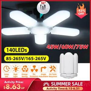 Garage-Light Industrial-Lamp Workshop Led-Fan E27 2835 Led High-Bay 4800LM 85-265V