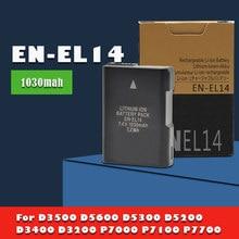 1-10 adet 7.4v 1030mAh EN-EL14 ENEL14 EN EL14 pil Nikon Df D3100 D3200 D5100 D5200 d5300 dslr dijital SLR kamera hücreleri