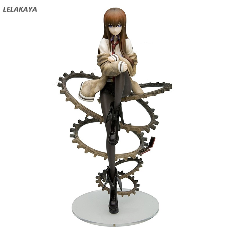 New Anime 21cm Steins Gate Makise Kurisu Sitting Ver <font><b>Sexy</b></font> <font><b>Girls</b></font> 1/8 scale PVC <font><b>Action</b></font> <font><b>Figure</b></font> Collectible Model Toys Brinquedos image