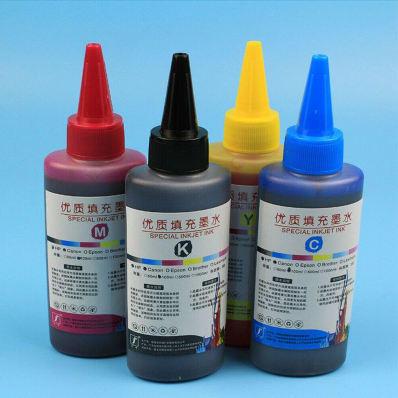 100ML Refill Ink Kit Universal Dye Printer Supplies Desktop Printing Paper Replacement for Canon PG-245 CL-246 PIXMA MG2420 MG25
