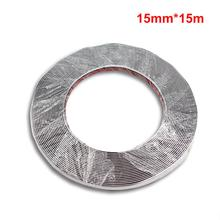 цена на 15M Silver Car Chrome Decoration Moulding Trim Strip Tape Universal PVC Bumper Anticollision Sticker 15mm DIY Car Door Protector