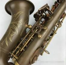 Keiworlks KSS-993 b plana soprano saxofone instrumentos de bronze cobre antigo para iniciante soprano saxofone com caso