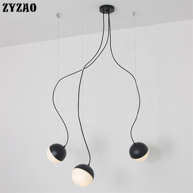 Nordic Magic Bean Glass Ball Led Pendant Lights Bedroom Bedside Lamps Dining Room Restaurant Simple Modern Kitchen Hanging Lamps