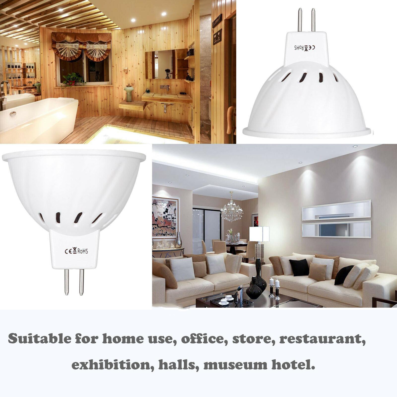10x MR16 12 V-24 V светодиодный лампы светильник 220V SMD 2835 Светодиодный точечный светильник с лампой мощностью 4W 6W 8W 36 54 72 светодиодный теплый холодн...