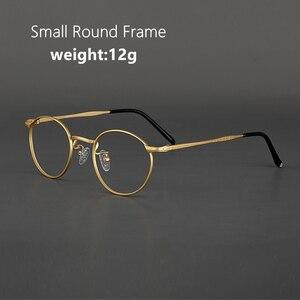 Image 2 - Marco de gafas de titanio para hombre, Marco Retro, gafas graduadas para miopía, monturas redondas