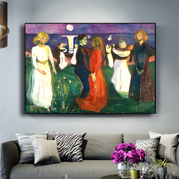 Dance of Life Edvard Munch Abstract Oil Painting on Canvas 3