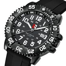 Мужские кварцевые часы Бен-невирас (подарочный браслет) роскошного бренда, вращающийся циферблат, военный механизм, светящиеся водонепрони...